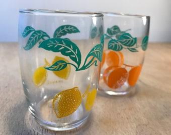 1960s Fruit Juice Glasses