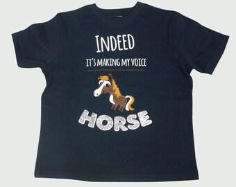 NAVY 'HORSE' Tee