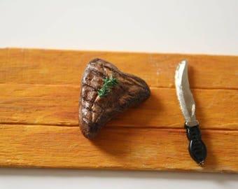 1:12 miniature T-Bone steak