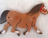 Horse Horse Coat Hanger Coat Peg Kids Coat Peg Kids Coat Hanger Kids Bedroom Hand Painted Hand Painted Coat Peg Horse