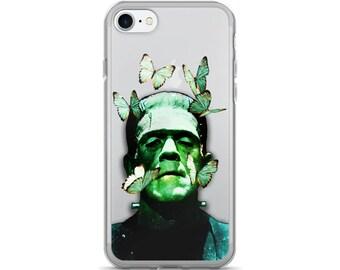 Frankenstein Transparent iPhone 7 Case, Transparent iPhone 7 Plus Case, Frankenstein iPhone Case, Transparent iPhone Case, iPhone Case