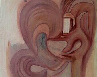 "Original ""The Amente Halls"" Energy Painting"