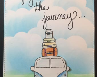 enjoy the journey card, Friend Card, Friendship Card, Thinking of you, encouragement card