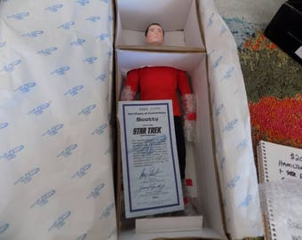 """SCOTTY"""" Star Trek - 14"""" Tall Porclain Doll - Use this coupon code at checkout for 25% off:  NICKZ6151C"""