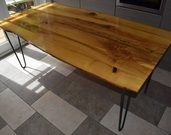 Live-edge Ash Dining Table
