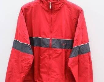 Vintage NIKE Sportswear Red Zipper Windbreaker Size XXL