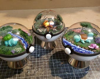 Pokeglobe Custom 100mm - Pokemon Terrarium