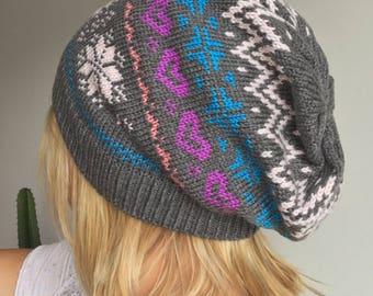 Beanie Cap Norwegian pattern