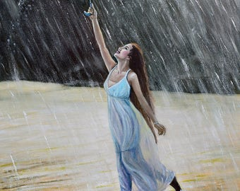 Dancing in the rain / 43 X 65 cm