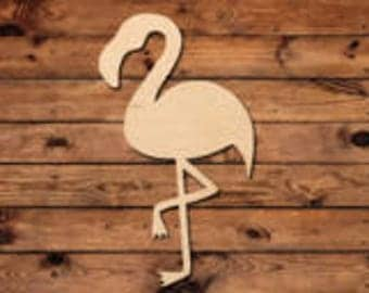 Flamingo Door Hanger Wood Blank
