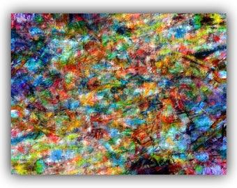 Colourful abstract art wall print/nature inspired/scrapbooking material/journaling supplies