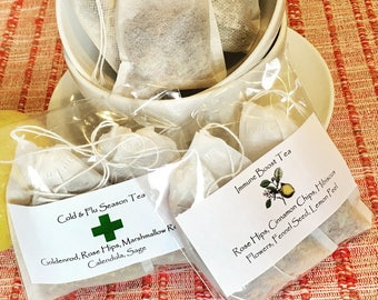 Organic Cold Relief & Immune Boost Tea Set (8 large bags)