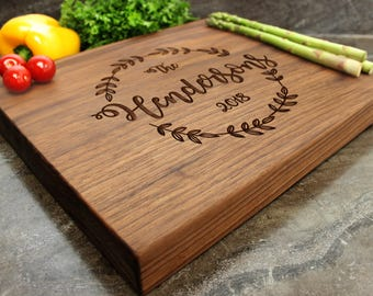 "Personalized Chopping Block 12x15x1.75"" - Engraved Butcher Block, Custom Chopping Block, Housewarming Gift, Wedding Gift #17"