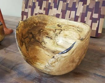 Live edge, spalted wood bowl