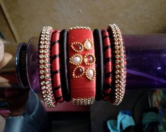 Red and Black Bangles
