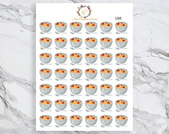 Cereal Stickers, Food Stickers, Breakfast Stickers, for use with  Erin Condren, Happy Planner