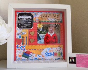First day at school photo frame, First Day at school gift, First day at school chalkboard, personalised first day at school frame, scrabble