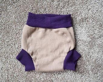 Medium  (9-18 months) Wool Diaper Cover with Extra Soaker