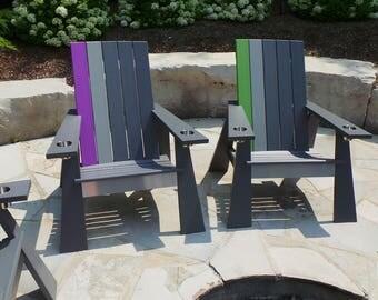 Modern Muskoka / Adirondack Chair - Custom Colour Combo