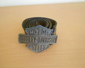 Harley Davidson buckle belt