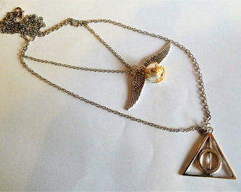 Harry Potter necklace silver