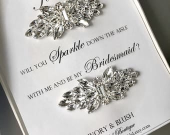 Bridesmaid gift, Wedding Shoe Clips, shoe clips, Rhinestone Shoe Clips, Wedding, bridal shoe clips, bridesmaid proposal, bridesmaid jewelry