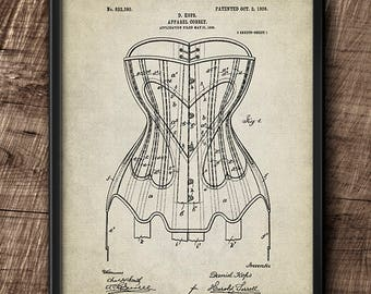 Corset Patent · Instant Download · Fashion · 1906 · Vintage · Digital File #66