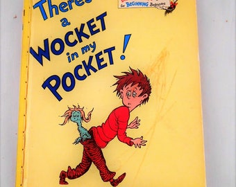 1974 Dr. Seuss THERES A WOCKET IN my pocket vtg book club edition