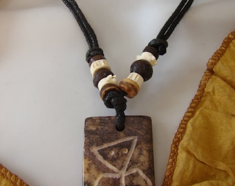Necklace tribal primitive character stone craft Timor, Indonesia