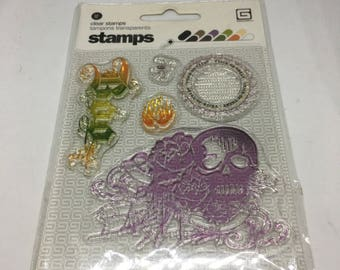 Boo Halloween Clearly Stamp Set / Scrapbooking / Card Making Supplies / Clear Stamp Set / Halloween / Clear Stamps