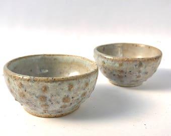 Small Urchin bowls   Set of 2   Chun 2 Glaze   Wheel Thrown Ceramics   FREE SHIPPING