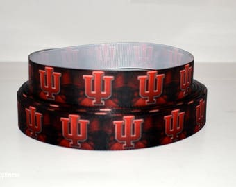"Indiana University 7/8"" Grosgrain Ribbon 173A By the Yard"