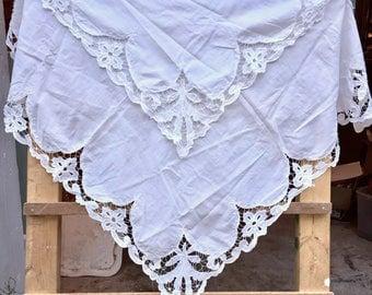 Gorgeous Antique Handmade Tablecloth