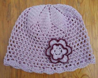crochet baby hat, crochet hat, summer hat, girls hat,gift,purple hat