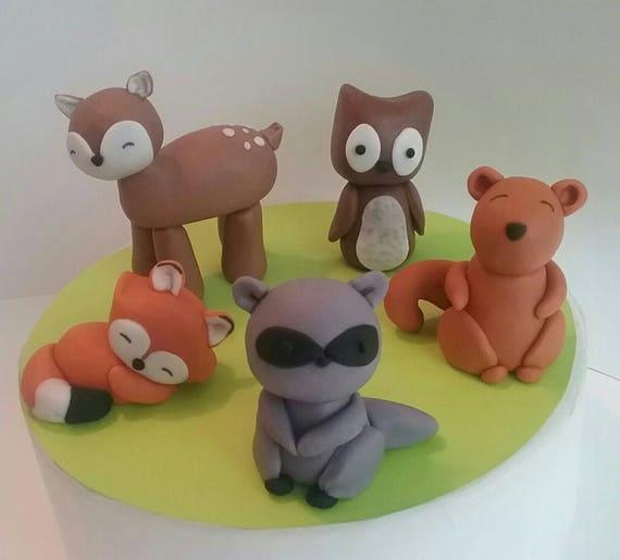 Woodland Animal Edible Cake Toppers