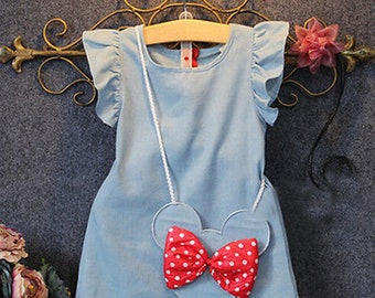 Cute Girls Minnie Dress with Bag