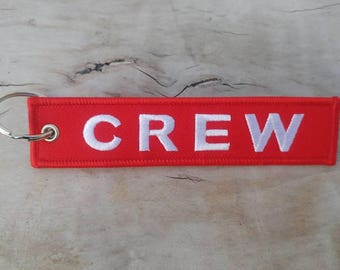 CREW Red Key Tag/Ring