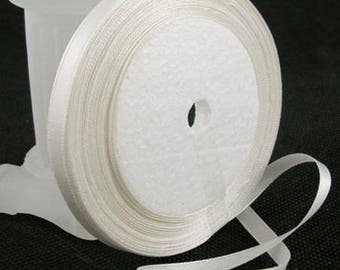 Cream satin ribbon sold by the yard