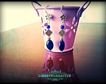 Earrings ' ear lapis lazuli, Czech beads