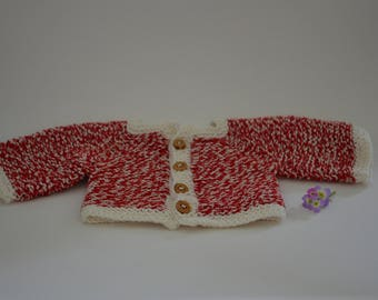 Cardigan made of cotton yarn - Waldorf doll clothes Steiner doll clothes Waldorf doll cardigan Steiner doll cardigan jacket knit knitwear