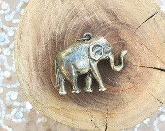 Vintage Alloy Elephant Pendant