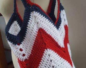 Large Crochet Tote Bag