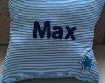 Simple personalised cushion