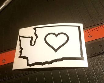Washington Heart Decal