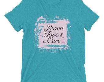 Peace Love & a Cure Short sleeve t-shirt