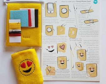 Emoji style phone pouch