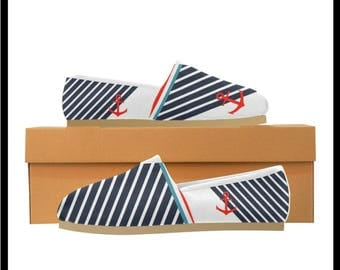 Women's Nautical Life Casual Canvas Shoes