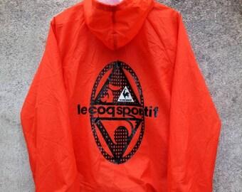Vintage Rare! LE COQ SPORTIF Big Logo Hoodie Coach Jacket