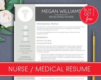 NURSE resume template Medical resume Nursing resume Rn resume template Doctor resume template nurse cv Cna resume Medical