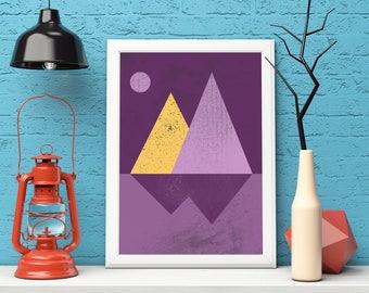 Minimalist Art, Minimalist Print, Minimalist Wall Art, Wall Art Prints, Modern art, Modern Print, Modern Poster, Landscape Print, Room Decor